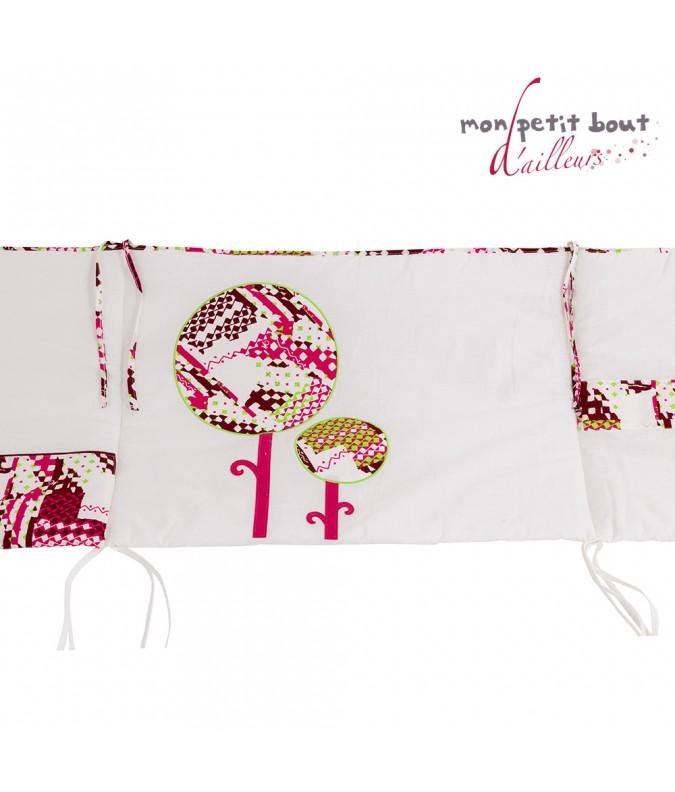 Tour de lit bébé Mon Petit Bout d'Ailleurs Katiola Rose Blanc