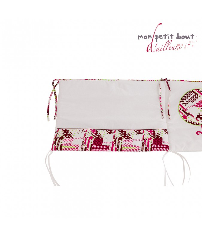 tour de lit b b katiola rose blanc. Black Bedroom Furniture Sets. Home Design Ideas