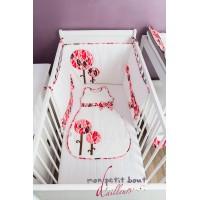 Tour de lit bébé Abidjan Rose Blanc