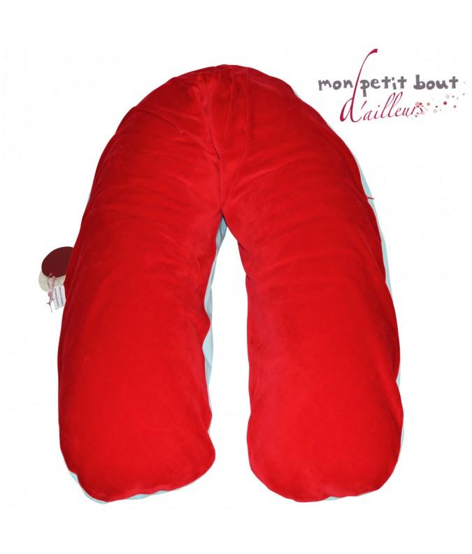 Coussin d 39 allaitement corpomed housse coton couleur for Housse coussin d allaitement