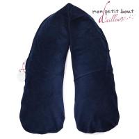 Coussin d'Allaitement Corpomed +Housse Bassam Bulles Bleu Rose