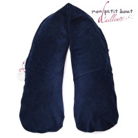 Coussin d'Allaitement Noenza Maternity +Housse Bassam Bulles Bleu Rose
