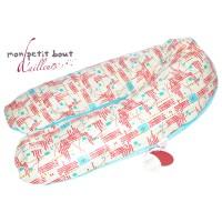 Coussin d'Allaitement Corpomed + Housse Marcory Turquoise Rouge